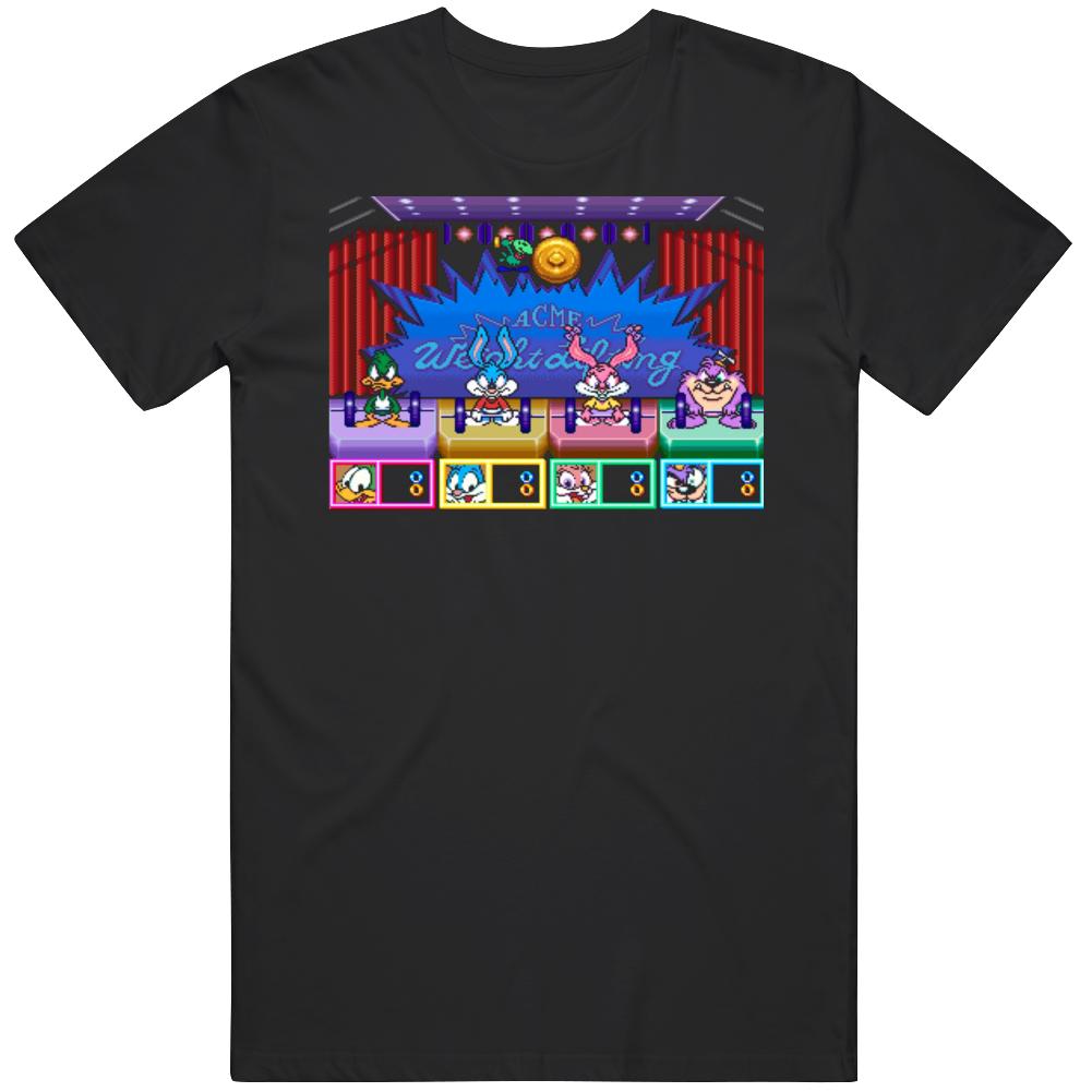 Retro Classic Video Game Tiny Toon Adventures Wacky Sports Challenge T Shirt