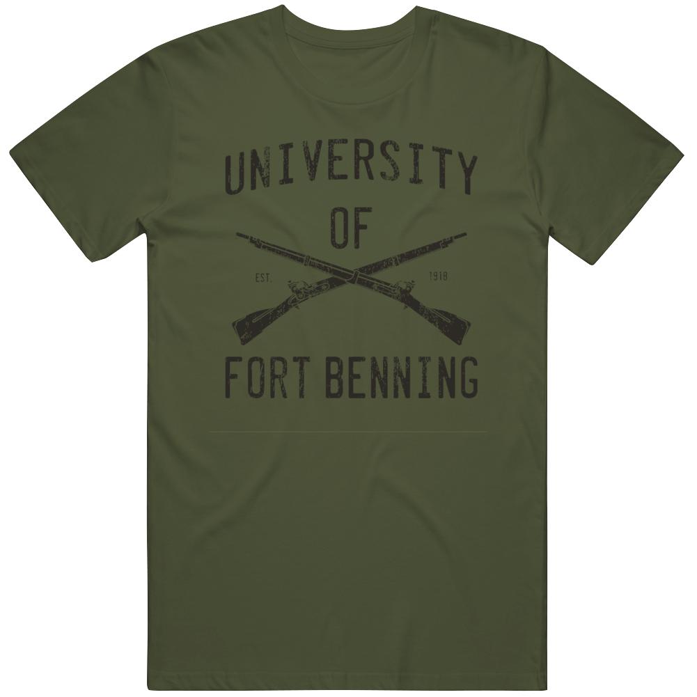 University of Fort Benning Distressed  T Shirt