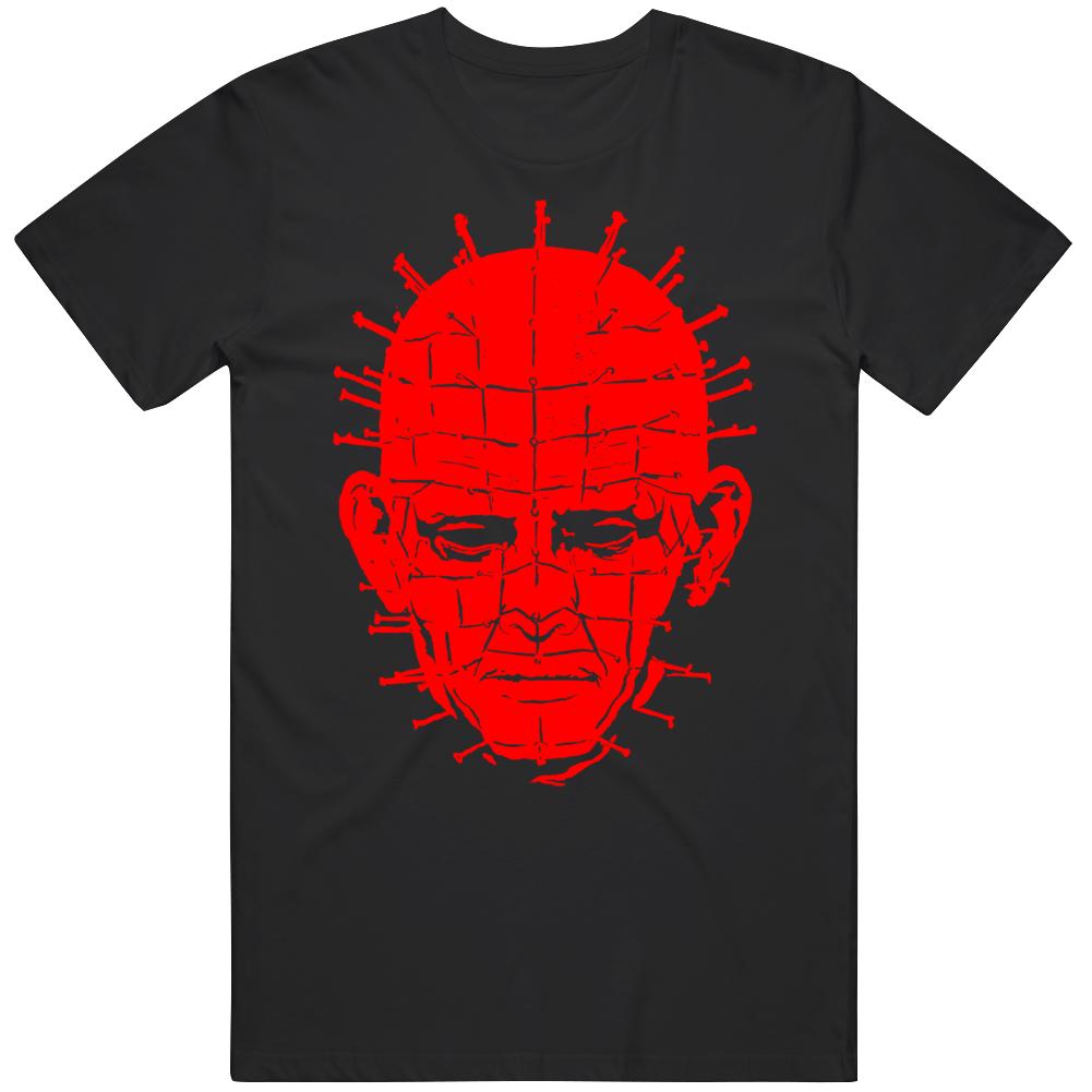 Pin Head Big Face Hellraiser Cult Clssic Horror Halloween V2 T Shirt