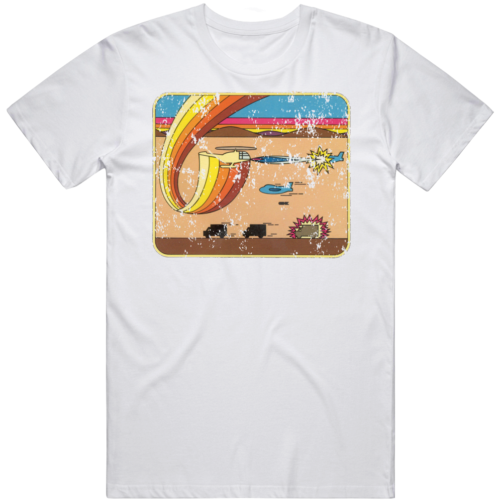 Retro Atari Video Chopper Command Box Art Distressed T Shirt