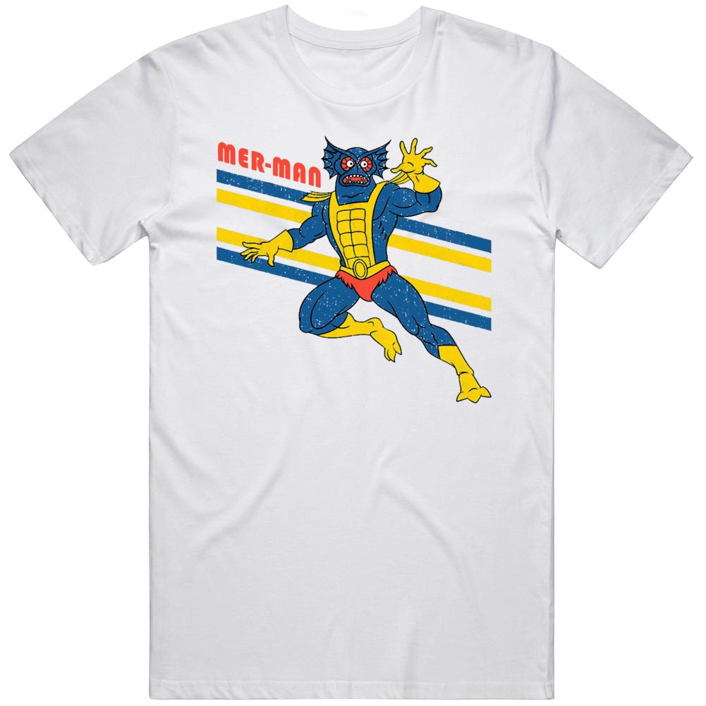 Retro He Man Fan MOTU Merman Cartoon  T Shirt