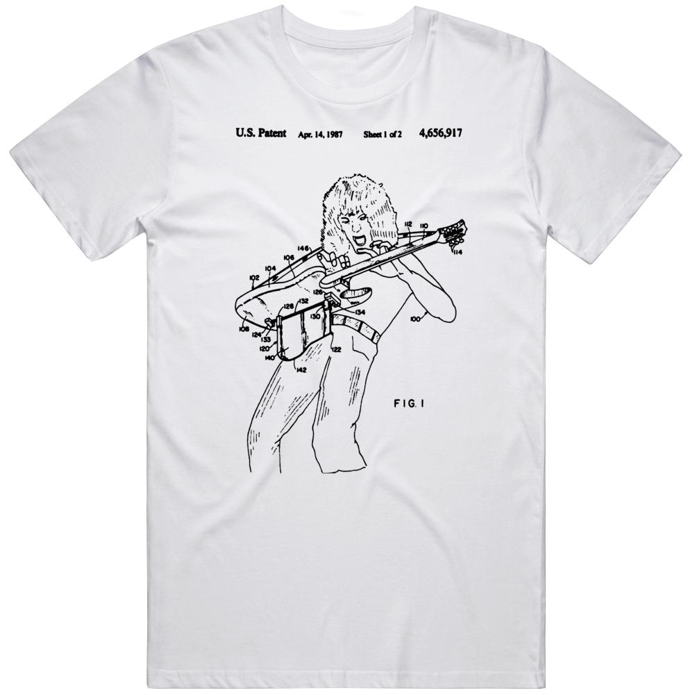 Patent Number 4656917 1987 Van Halen Fan  T Shirt