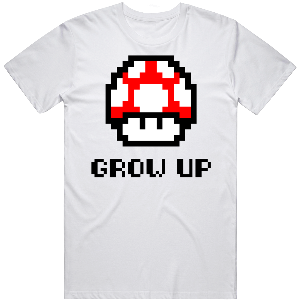 Retro Super Mario Funny Grow Up Video Game Fan T Shirt