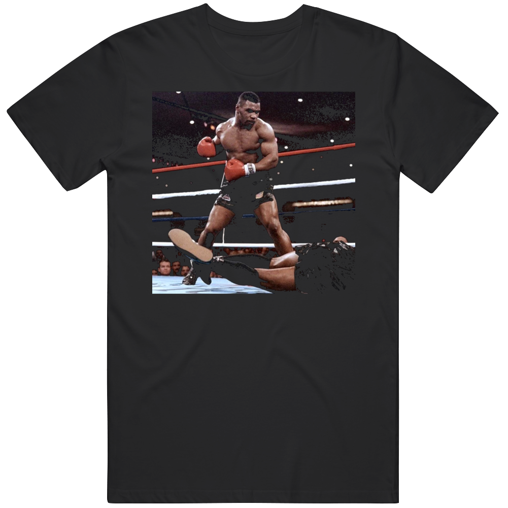 Mike Tyson Action Shot Greatest of All Time Boxing Fan T Shirt