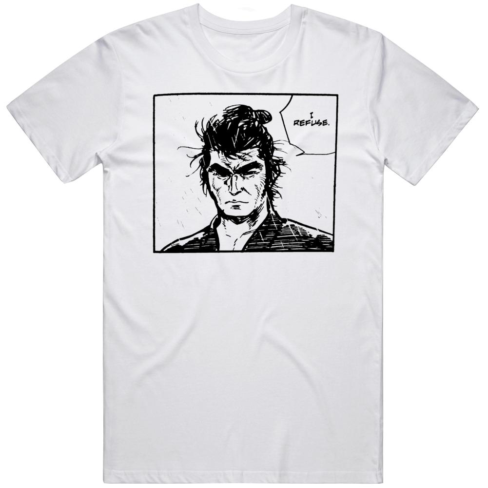 Lone Wolf and Cub I Refuse Classic Manga Fan T Shirt
