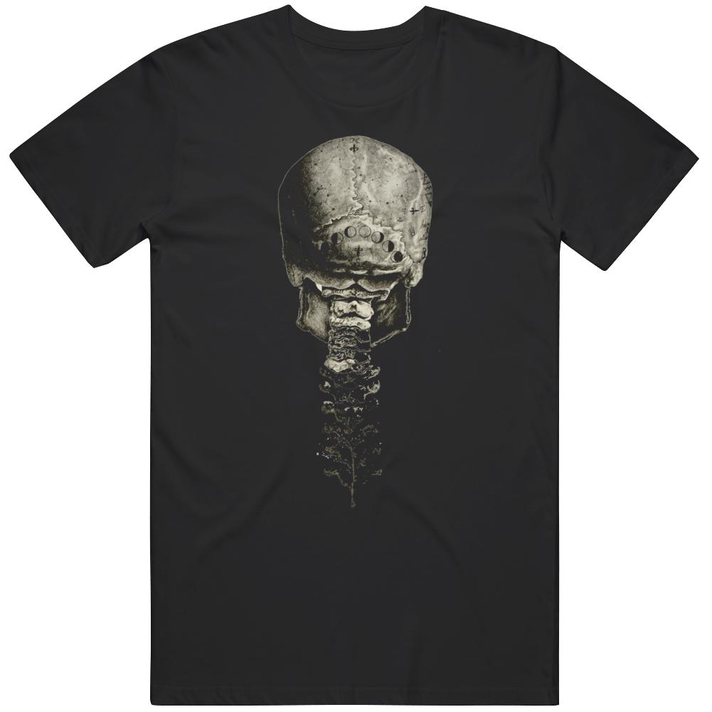 Skull Spine Back View Cool v3 T Shirt