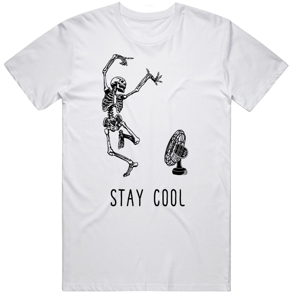Stay Cool Skeleton Fan v2 T Shirt