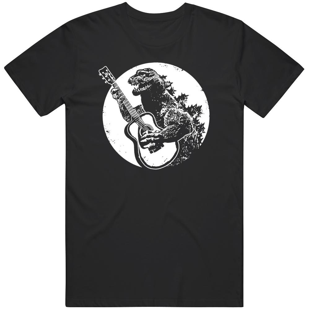 Godzilla Playing Guitar Cool T Shirt