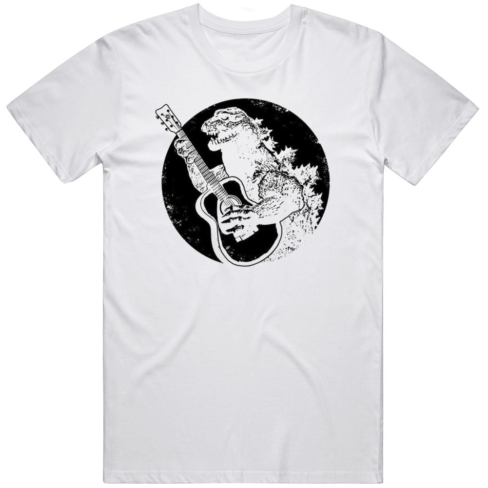 Godzilla Playing Guitar Cool v2 T Shirt