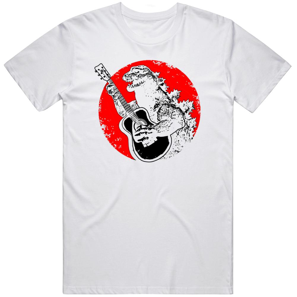 Godzilla Playing Guitar Cool v3 T Shirt