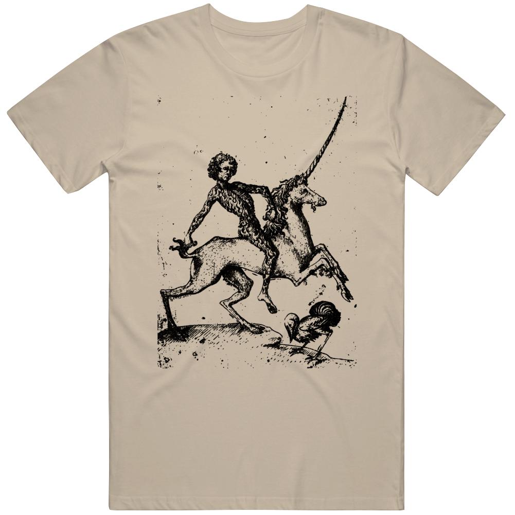Yeti Riding a Unicorn T Shirt