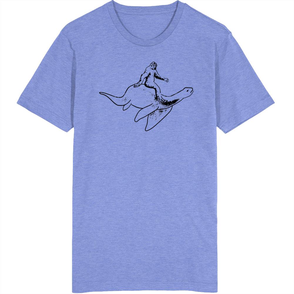 Bigfoot Riding The Loch Ness Monster T Shirt