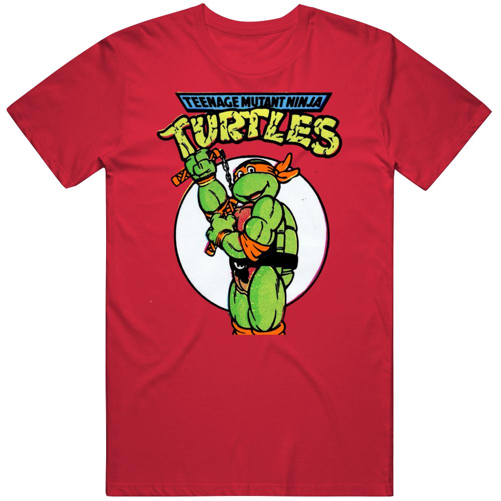 Topps Teenage Mutant Ninja Turtles Michelangelo Wax Sticker Package V2  T Shirt