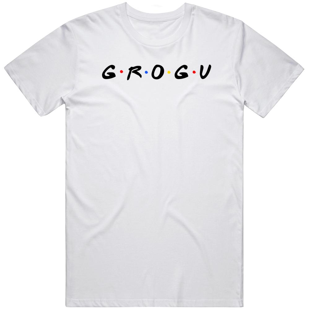 Baby Yoda Grogu The Child Cool Mandalorion Friends Parody Fan T Shirt