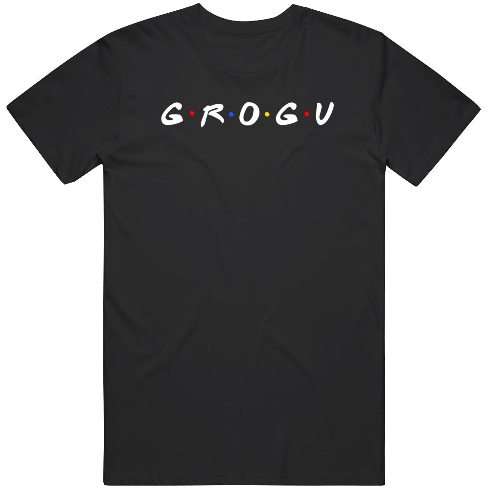 Baby Yoda Grogu The Child Cool Mandalorion Friends Parody Fan v2 T Shirt