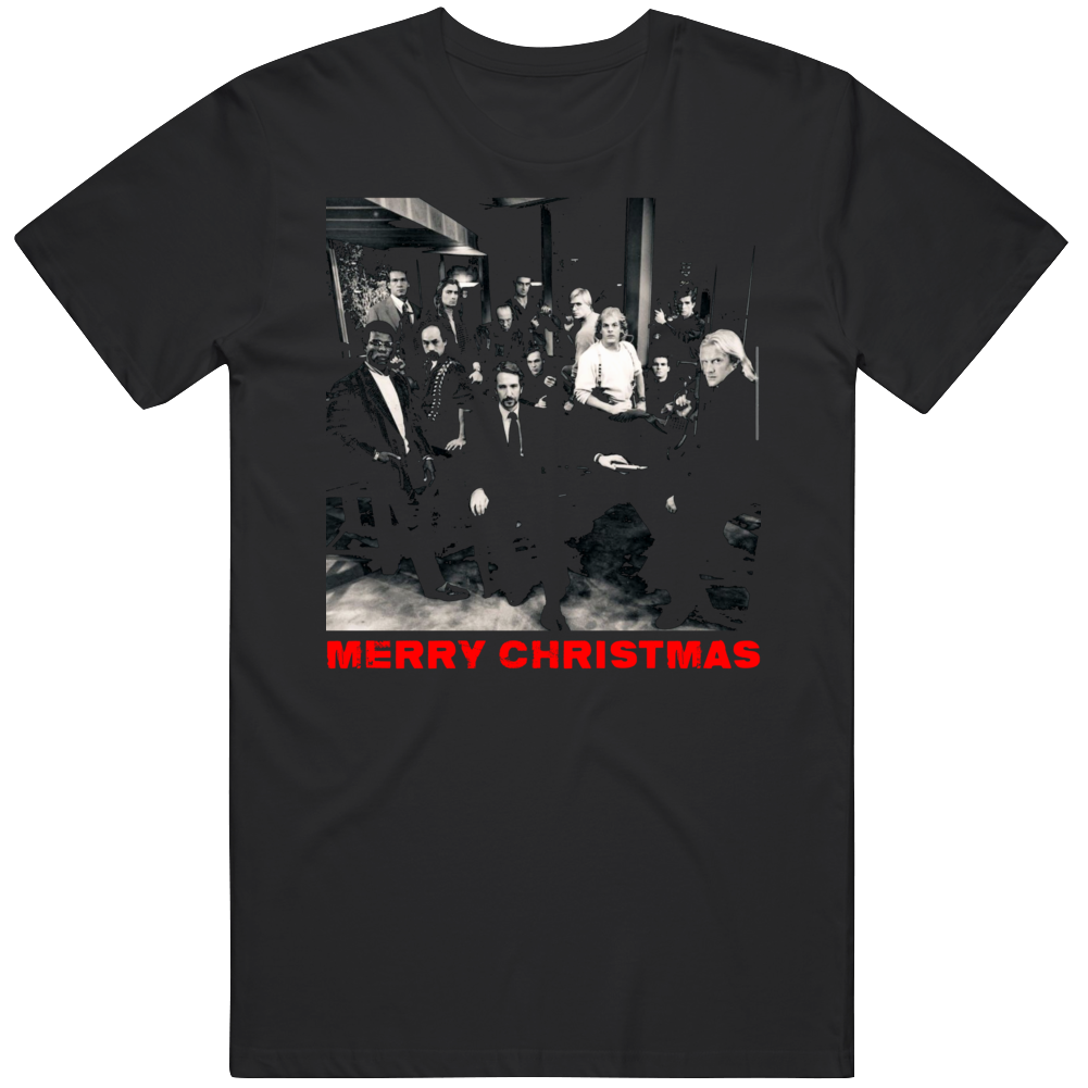 Funny Die Hard Movie Merry Christmas From Hans Gruber and Crew Movie Fan T Shirt