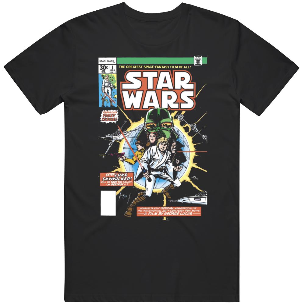 Star Wars Marvel Comic 1 Cover Retro Fan  T Shirt