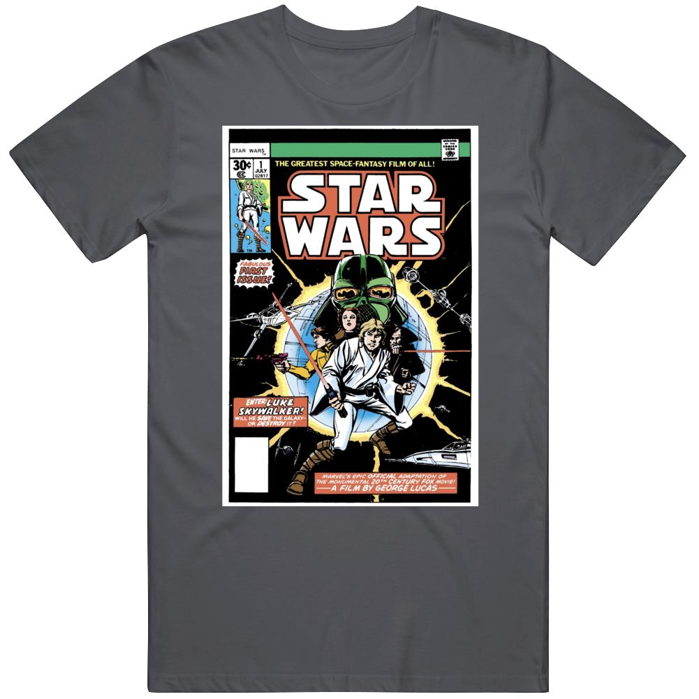 Star Wars Marvel Comic 1 Cover Retro Fan v3 T Shirt