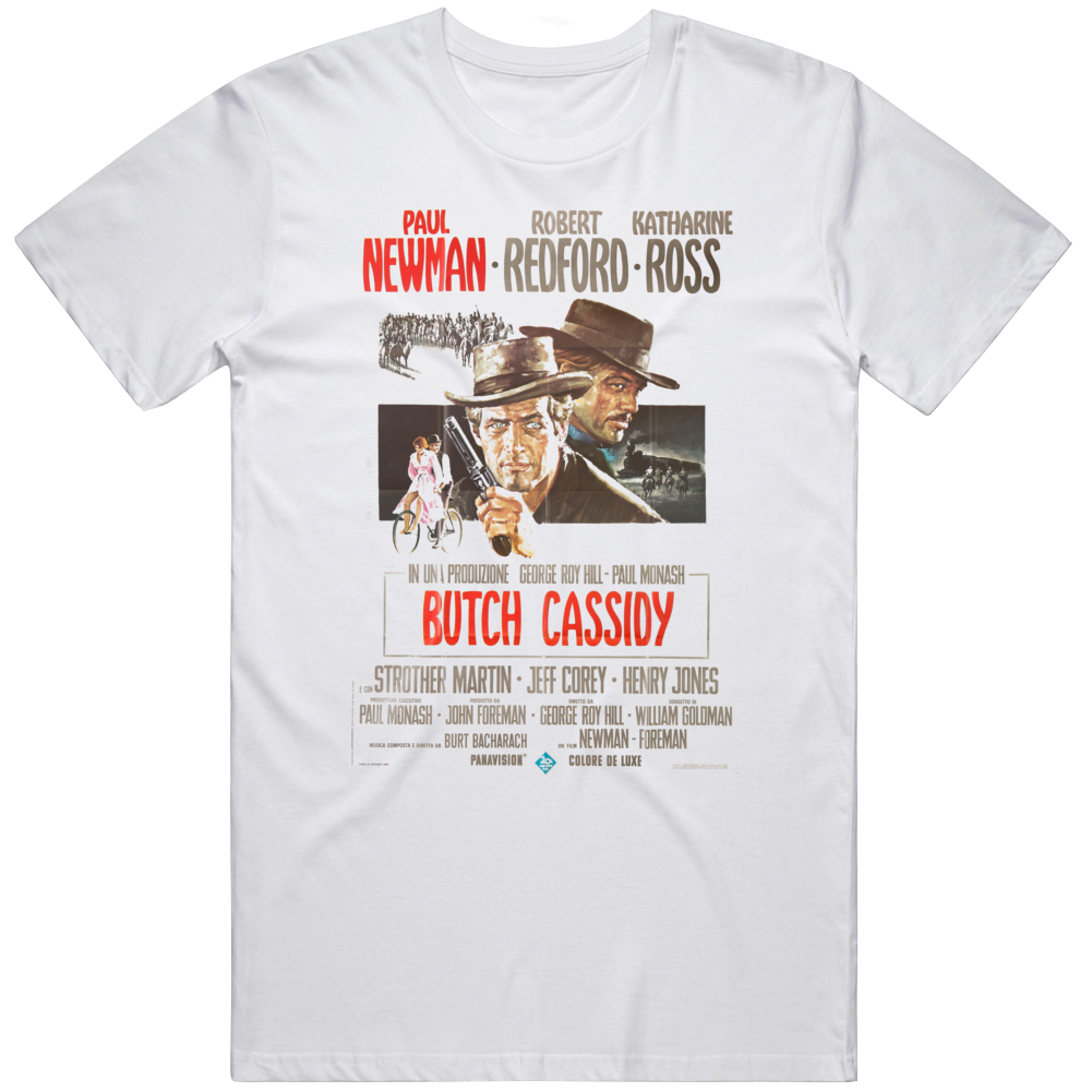 Butch Cassidy and The Sundance Kid Italian Poster Movie Fan  T Shirt