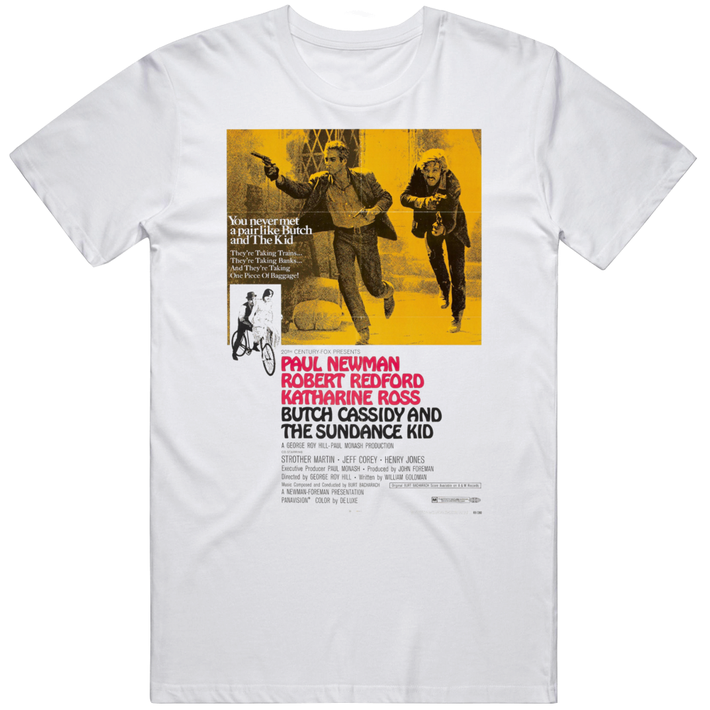 Butch Cassidy and The Sundance Kid  Poster Movie Fan T Shirt
