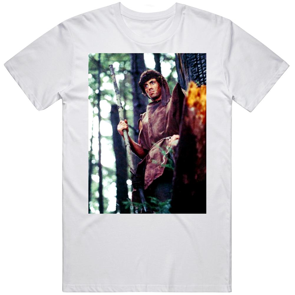 Rambo First Blood Retro Classic Movie Fan  T Shirt