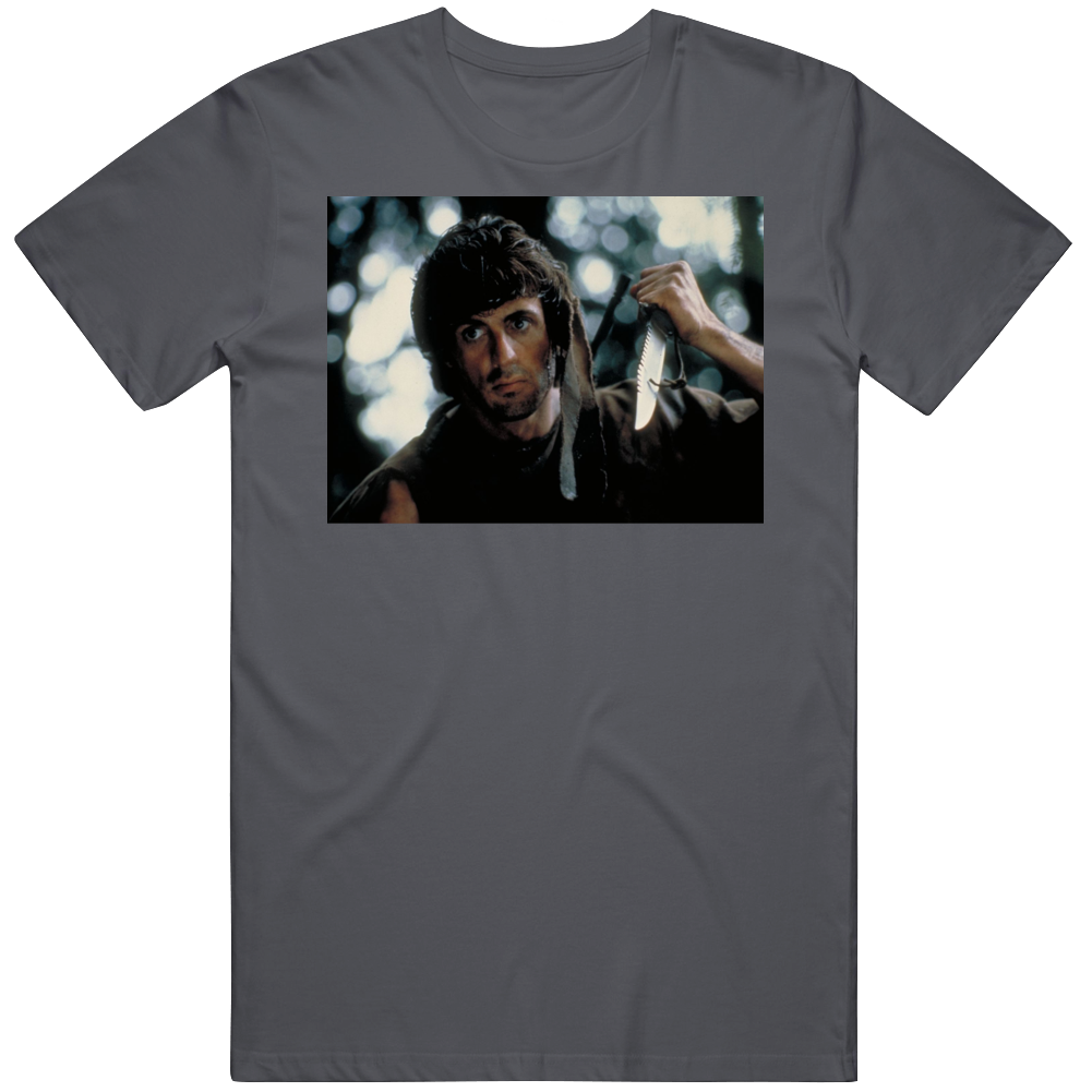 Rambo First Blood Retro Classic 80s Movie Fan  T Shirt