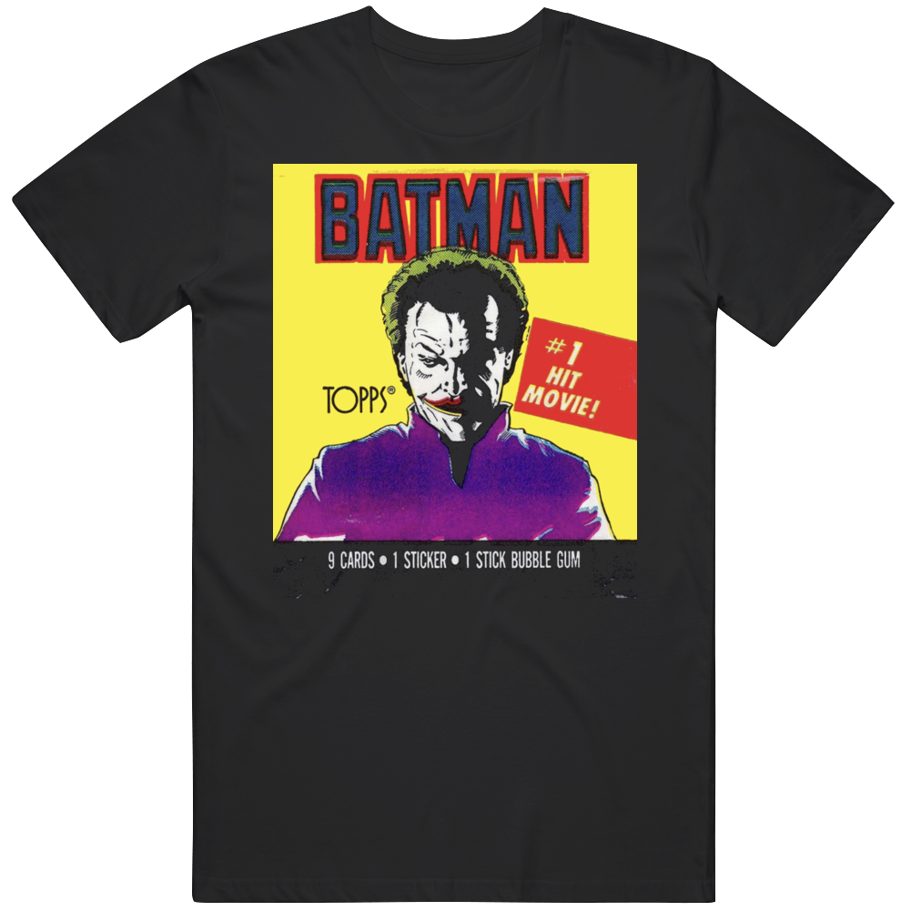 Batman Wax Pack Retro 80s Movie Joker Fan  T Shirt