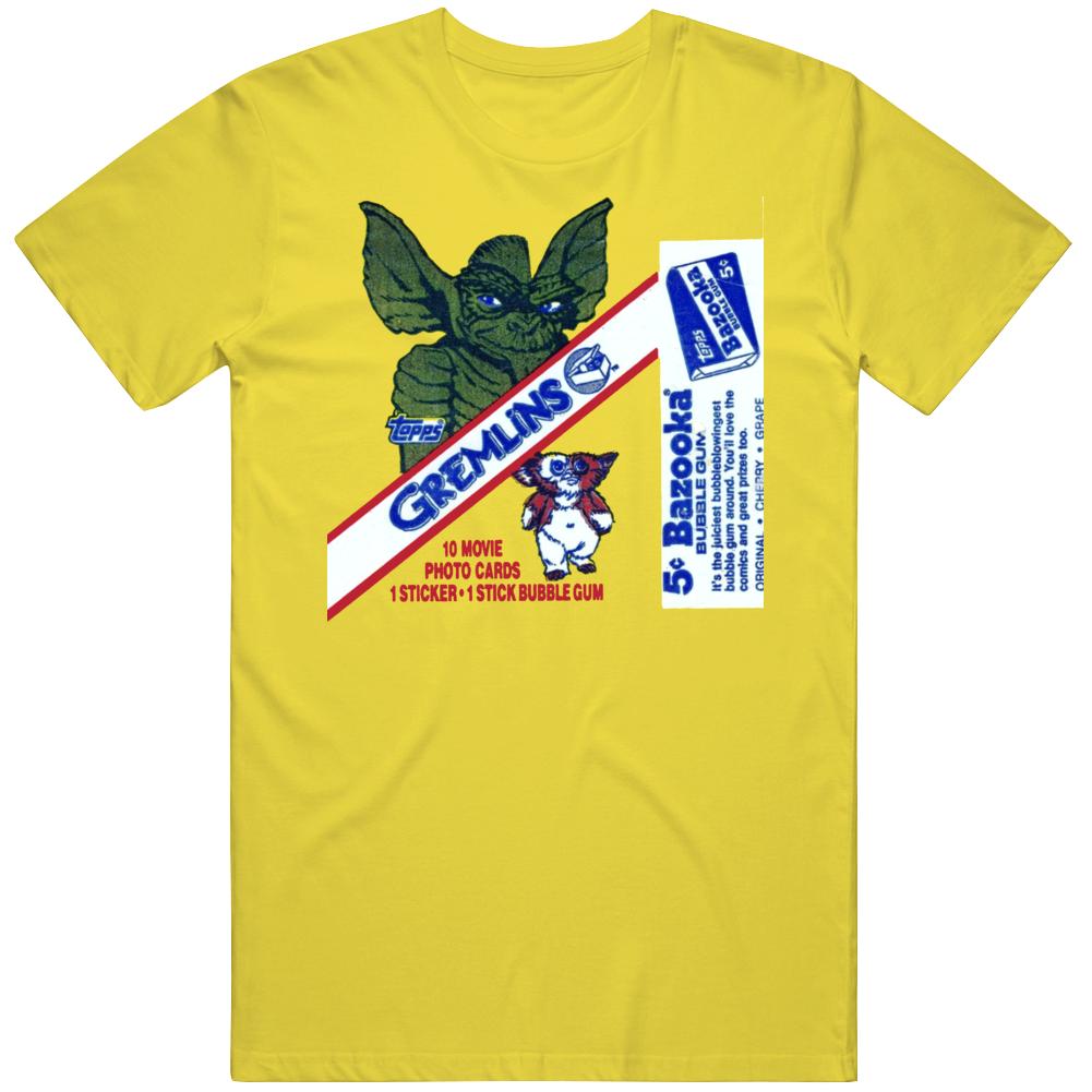 Retro 80s Movie Gremlins Topps Gum Wax Pack  T Shirt