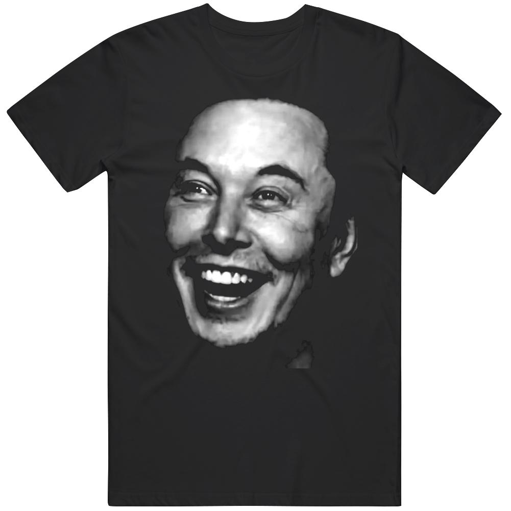 Elon Musk Happy Face Fan  T Shirt