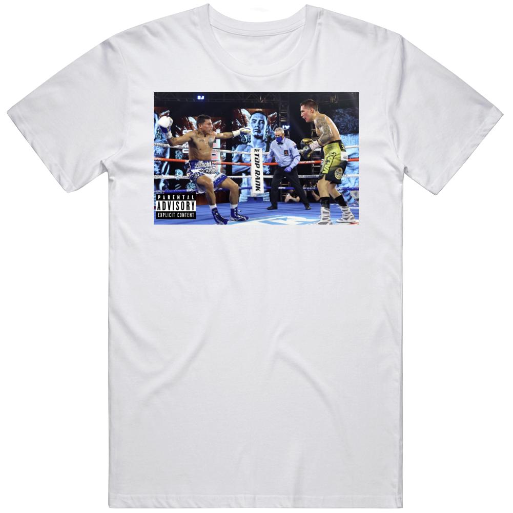 Oscar Valdez  KO  Miguel Berchelt Album Parody Boxing Fan v7 T Shirt
