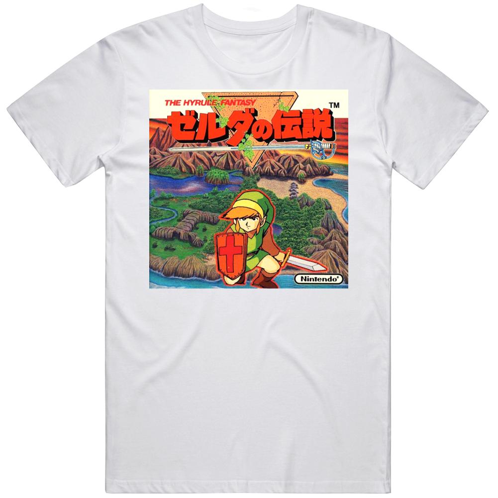 Retro 86 Famicon Box Art Japan The Legend of Zelda Video Game Fan T Shirt