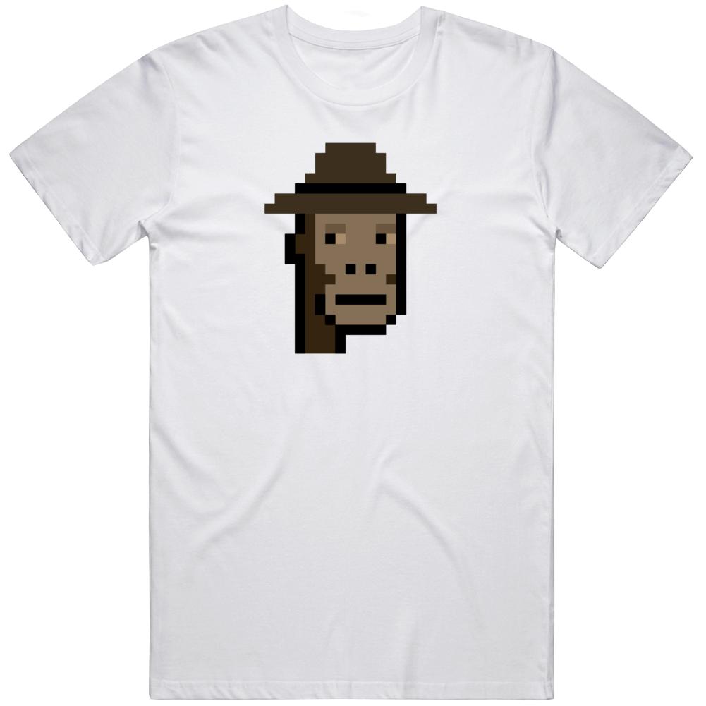 Cryptopunk Monkey Fedora Cool Crypto Currency Fan T Shirt