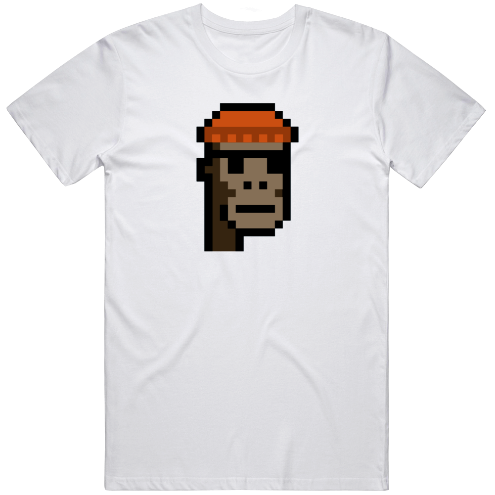Cryptopunk Ape Knitted Cap Small Shades Crypto Currency Fan T Shirt