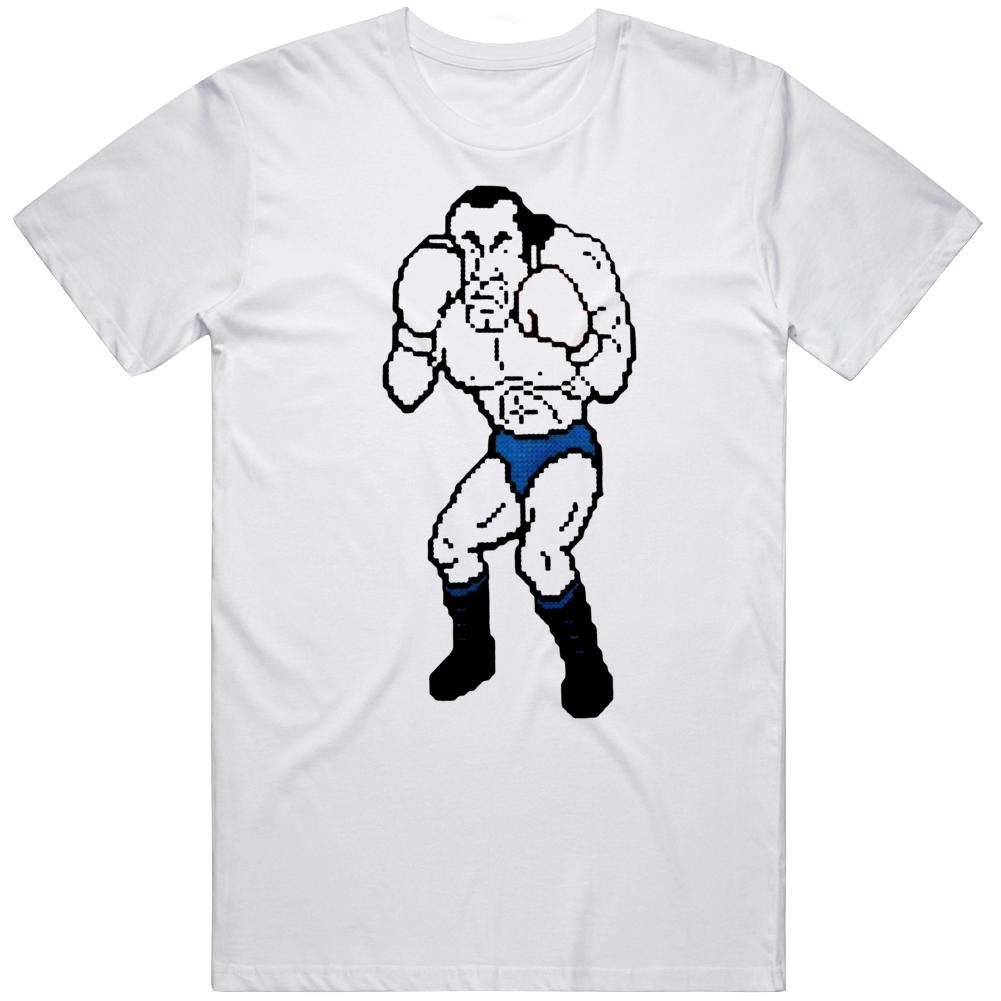 Cool Retro Nintendo Game Mike Tyson Punchout Super Macho Man v3 T Shirt