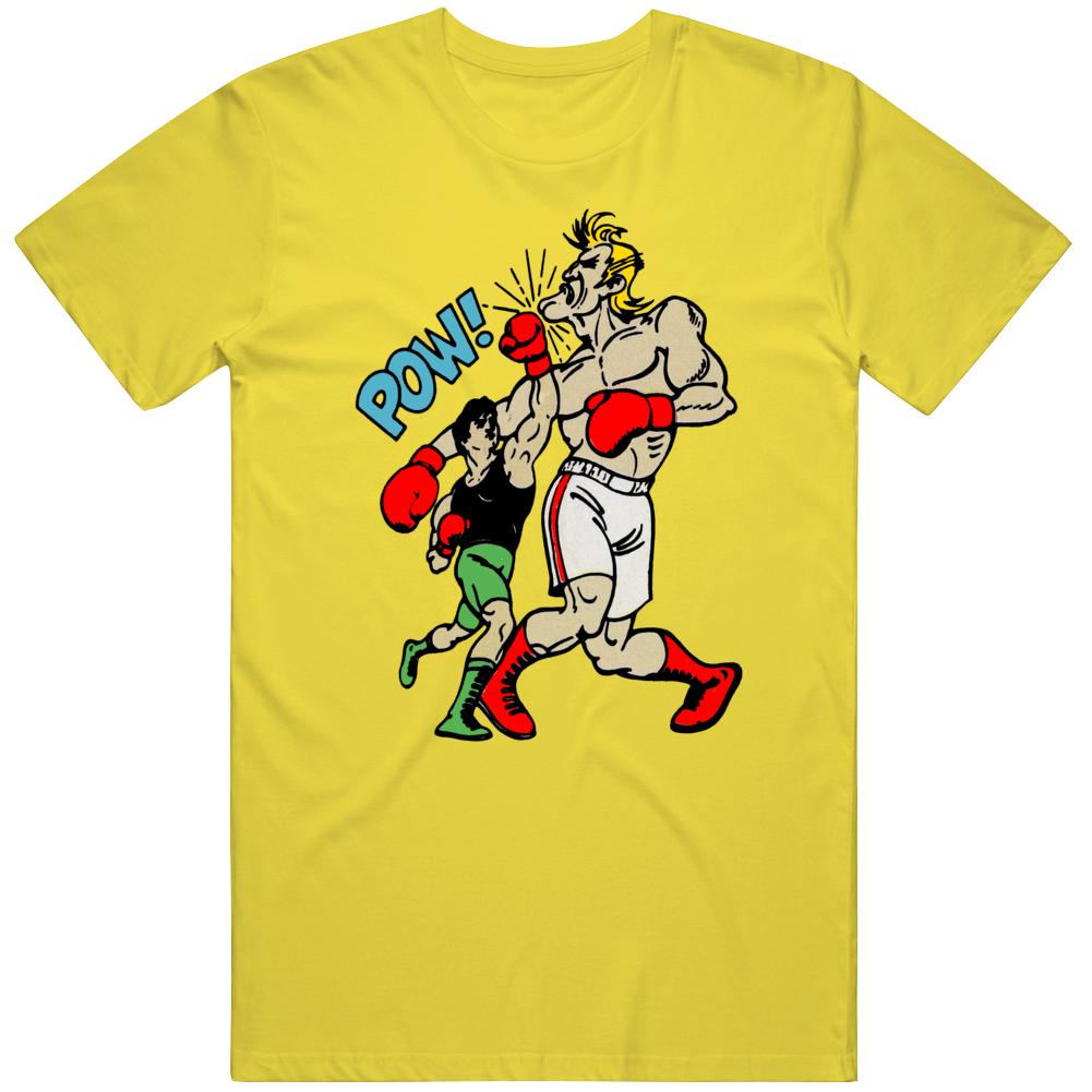 Retro NES Video Game Punch Out Little Mac Glass Joe Gamer Fan T Shirt