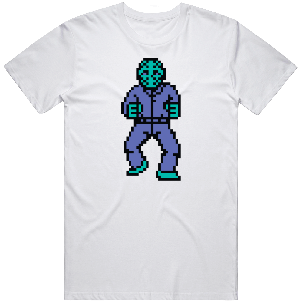 Friday The 13th Jason Sprite Retro NES Video Game T Shirt