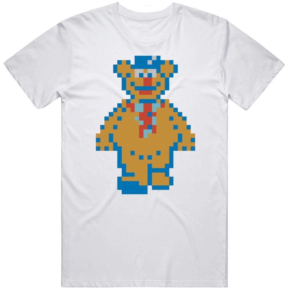 Muppet Adventure No 1 Fozzy Bear NES 1990 Retro Video Game Fan T Shirt
