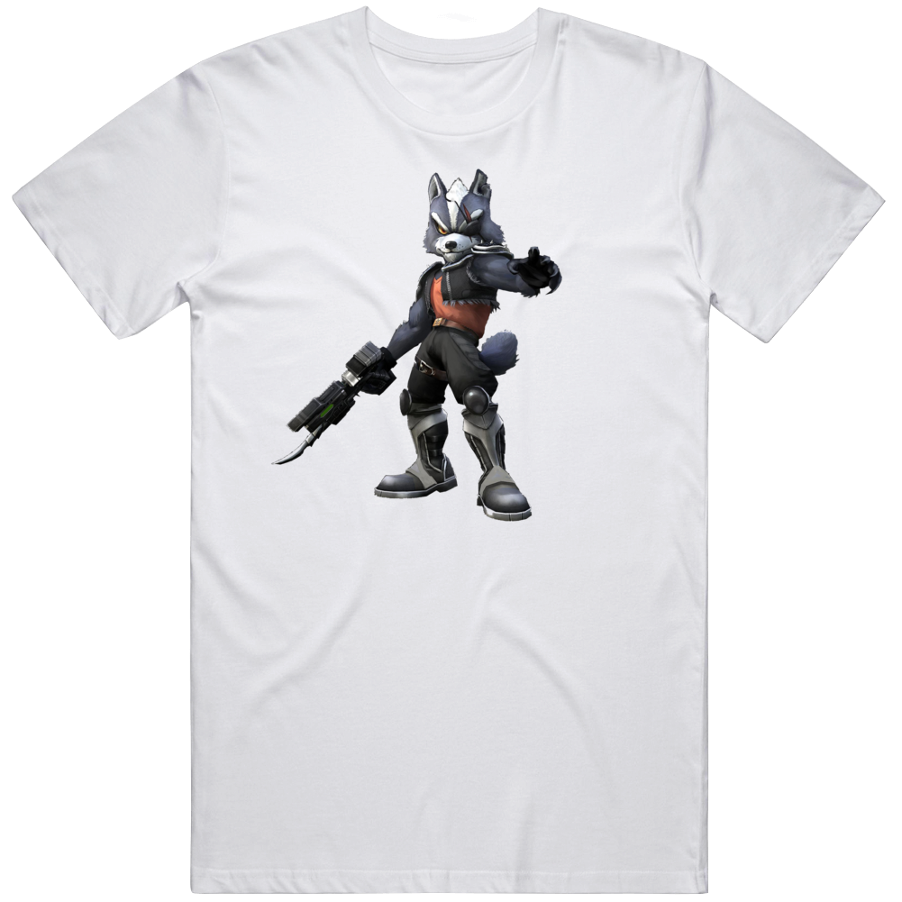 Star Fox 2 Star Wolf Character Wolfen Wolf O'donnell Video Game T Shirt