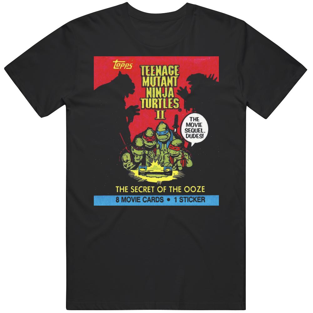 Retro Wax Pack Teenage Mutant Ninja Turtles 2 Movie Fan  T Shirt