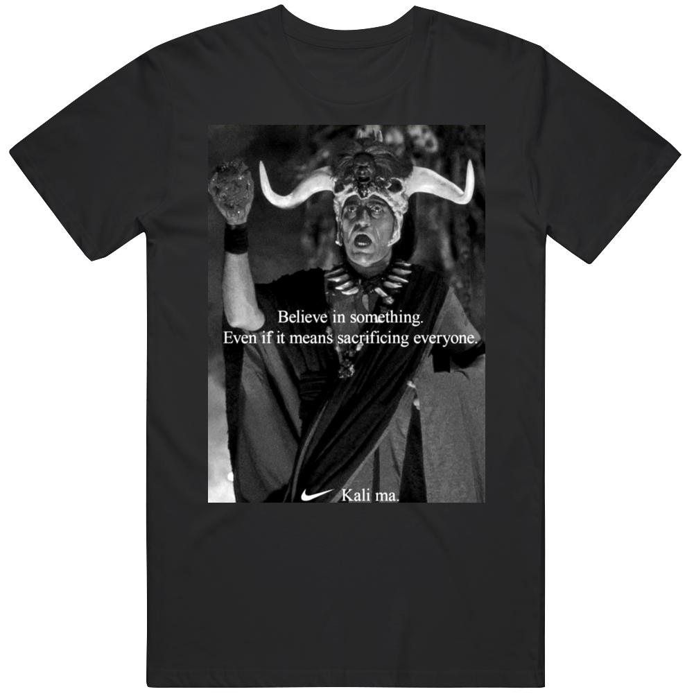 Funny Indiana Jones Temple of Doom Kali Ma Commercial Parody Movie Fan  T Shirt