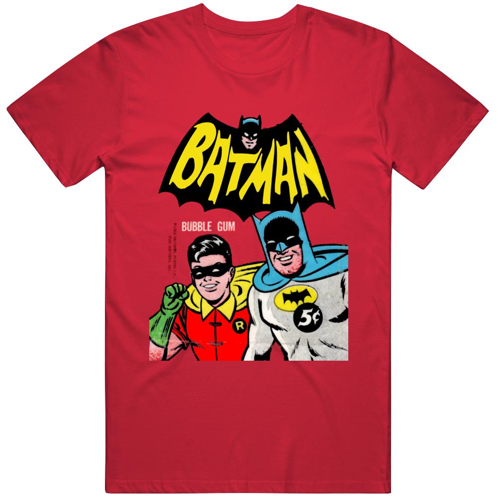 Retro Batman Adam West Tv Show  Wax Pack Fan  T Shirt