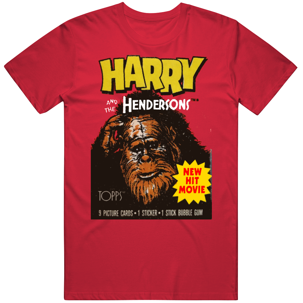 Retro Harry And The Hendersons Movie Wax Pack Fan T Shirt