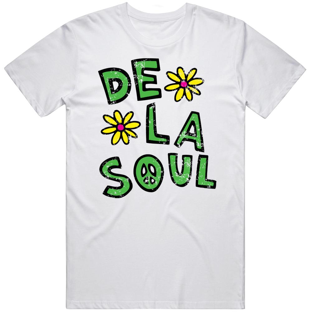 De La Soul Retro Hip Hop Fan Distressed T Shirt