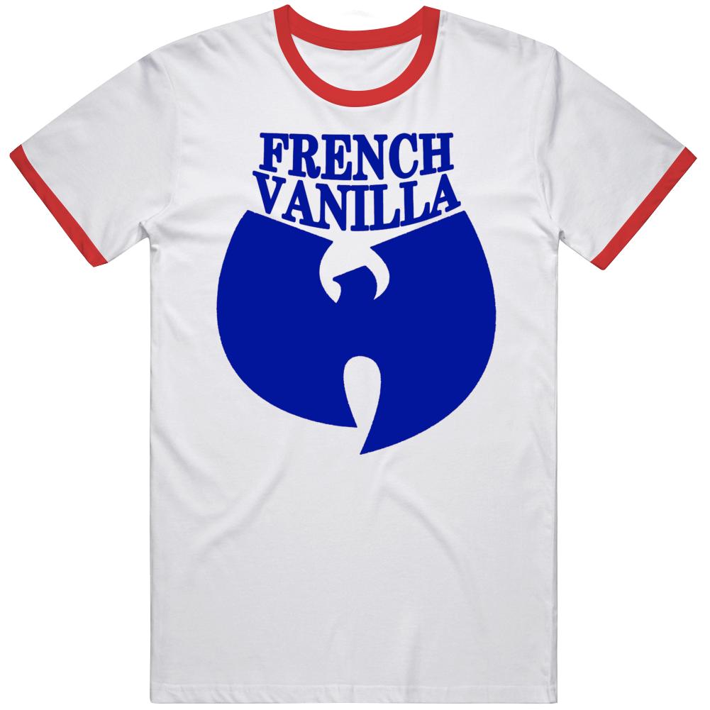 Wutang French Vanilla Hip Hop Music Ice Cream Red Ringer T Shirt