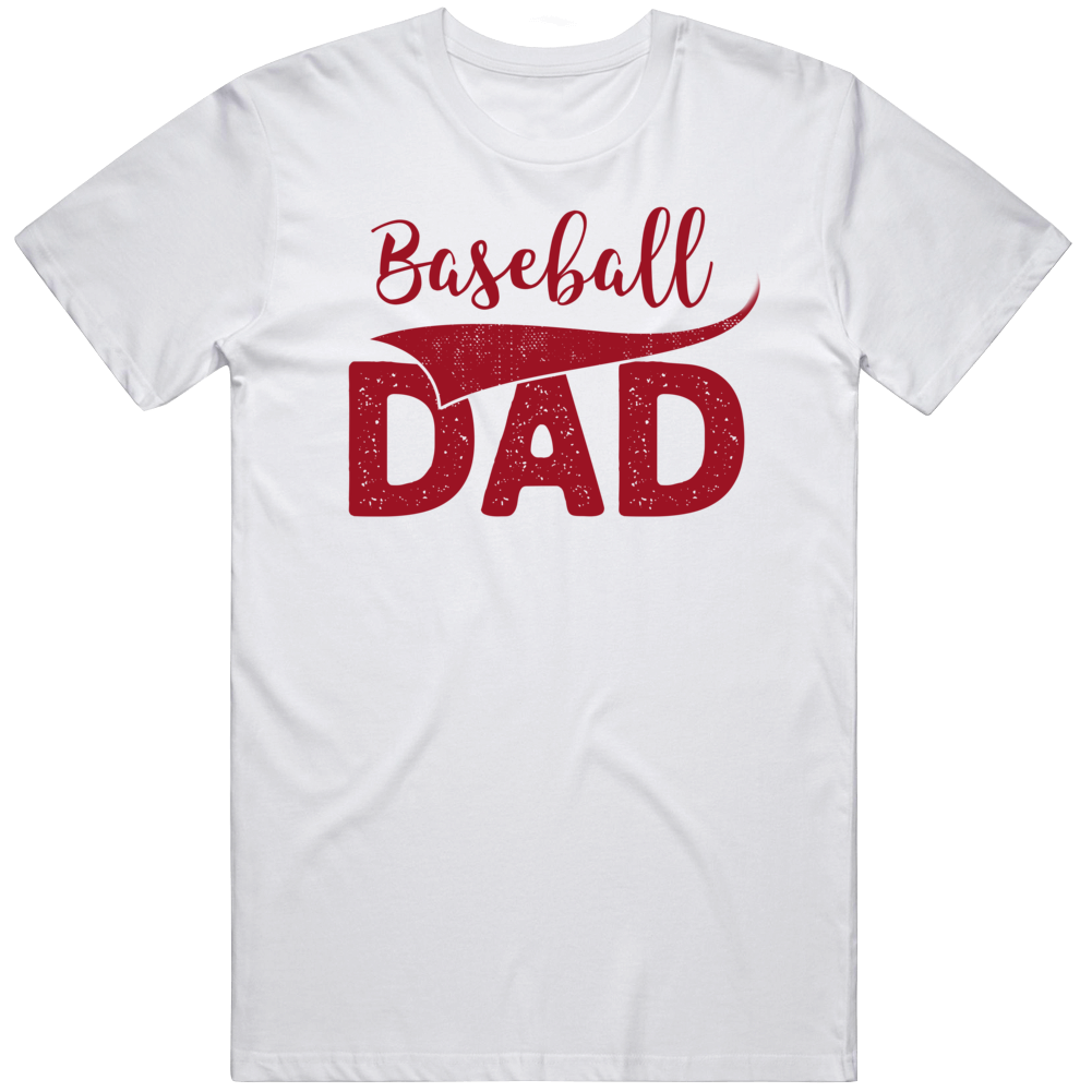 Cool Fathers Day Baseball Dad  T Shirt