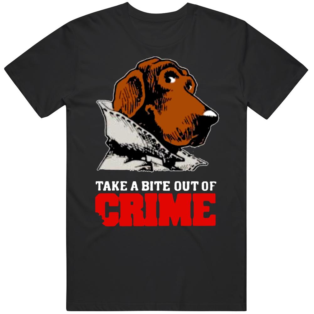 McGruff The Crime Dog Take a Bite out of Crime Retro v2 T Shirt