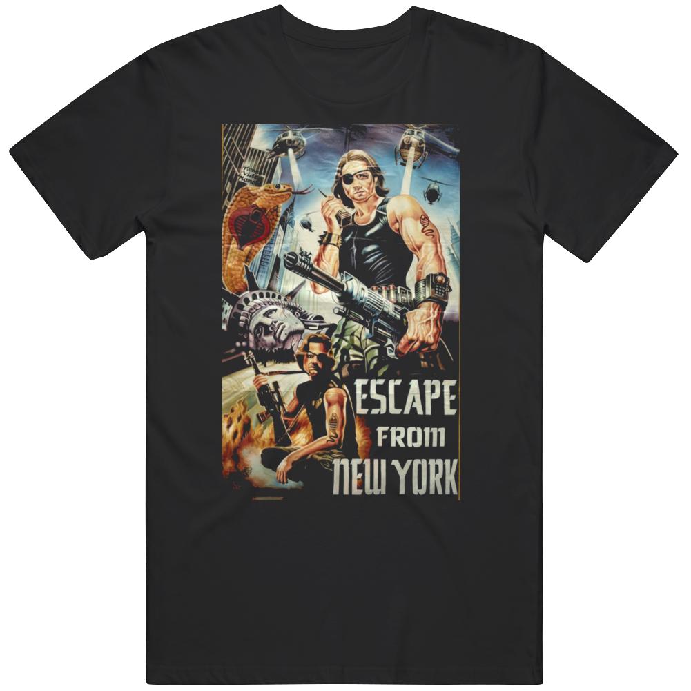 Escape From New York Retro Classic Ghana Movie  Fan T Shirt