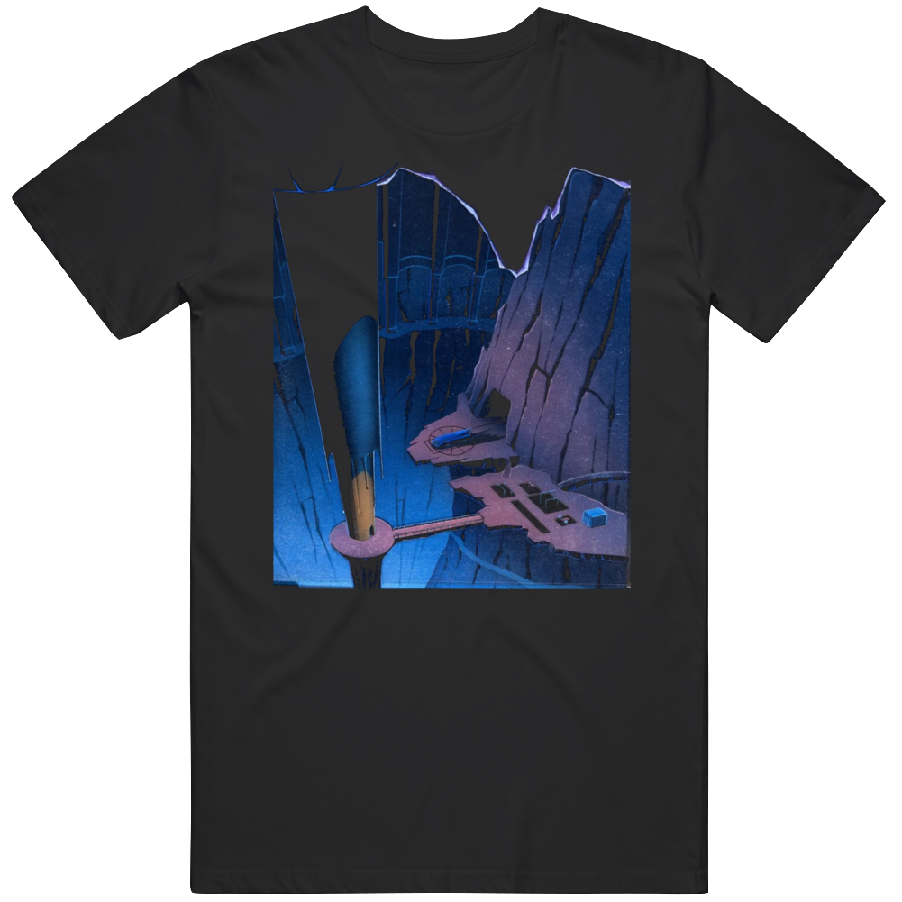 Retro Cartoon Batman The Animated Series Fan BTAS Batcave T Shirt