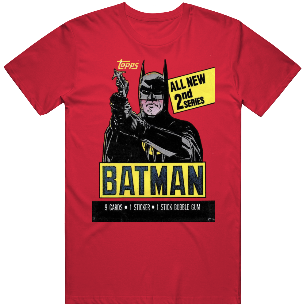 Batman 1989 Retro Wax Pack Movie Fan  T Shirt