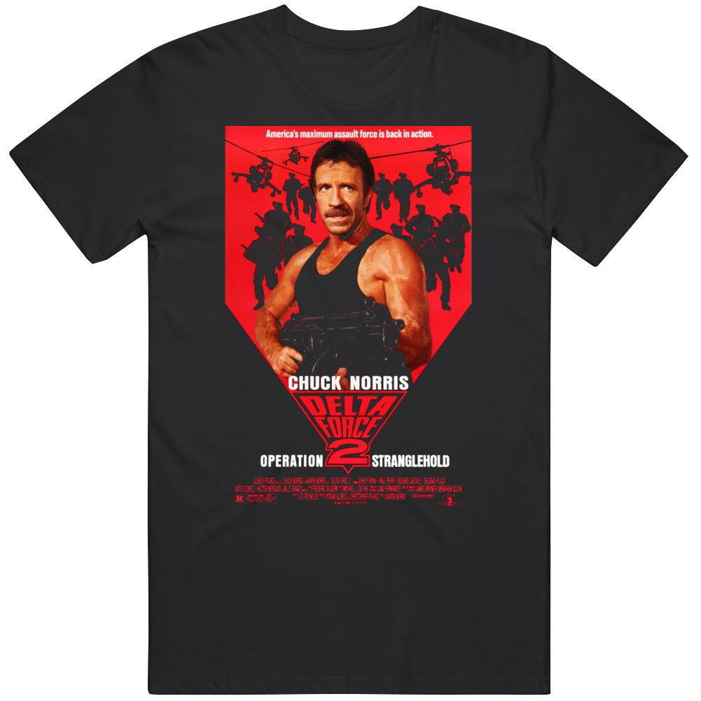 Delta Force 2: Operation Stranglehold 1990 Cult Classic Movie  Fan T Shirt